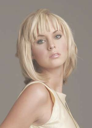Best Hairstyles For Oval Faces 2013: Medium Hairstyles With Bangs Throughout Most Recently Medium Haircuts With Bangs For Oval Faces (View 16 of 25)