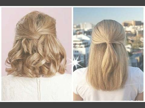Best Half Up Half Down Hairstyles For Long Short Curly Hair – Youtube With Regard To Most Current Half Short Half Medium Hairstyles (View 13 of 25)