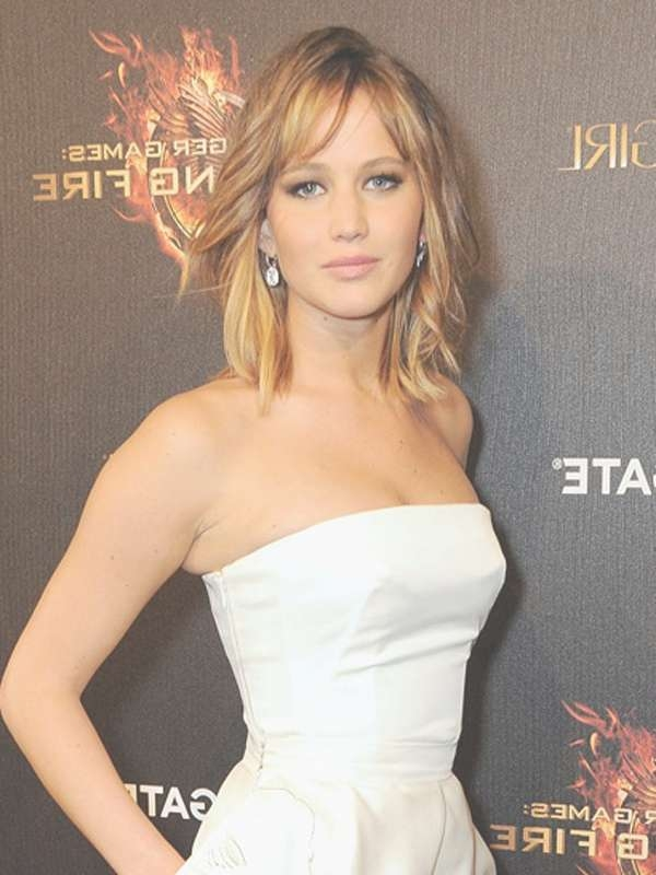Best Jennifer Lawrence's Different Hairstyles – Women Hairstyles Throughout Recent Jennifer Lawrence Medium Hairstyles (View 3 of 25)