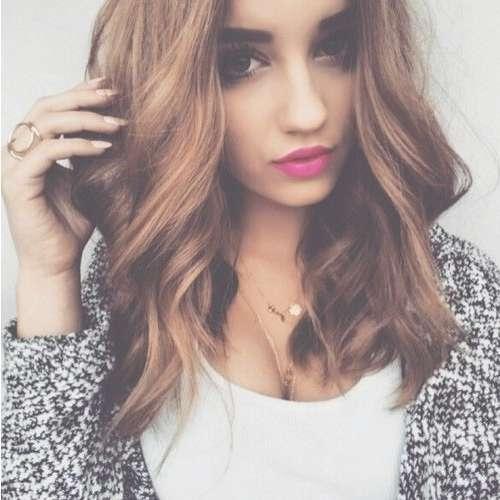 Big Curls Medium Hair | Hair | Pinterest | Curl Medium Hair Intended For Most Popular Big Curls Medium Hairstyles (View 3 of 15)