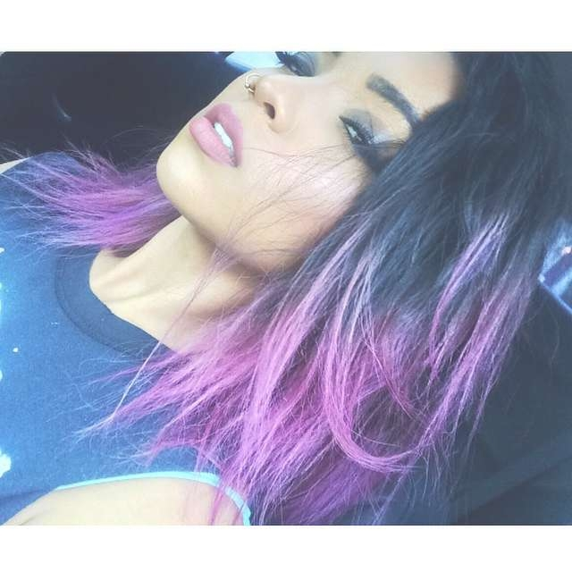 Black And African Violet Hair – Hair Colors Ideas With Regard To Most Recently Purple And Black Medium Hairstyles (View 3 of 15)