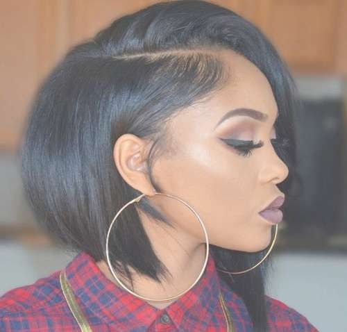 Black Hair Medium Bob Hairstyles With Most Current Bob Medium Hairstyles For Black Women (View 2 of 15)
