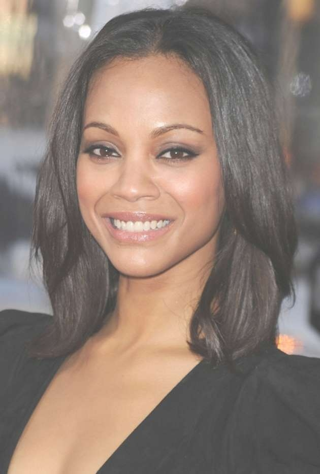 Black Haircuts Medium Length Within Current Medium Hairstyles For Black Females (View 24 of 25)