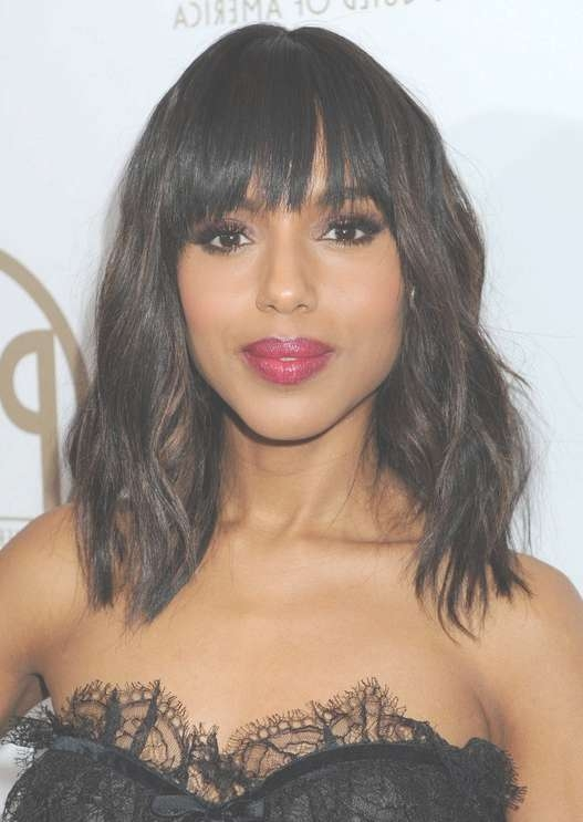 Black Hairstyles For 2014: Cute Tousled Curly Hairstyle For Black Inside Current Really Medium Haircuts For Black Women (View 10 of 25)