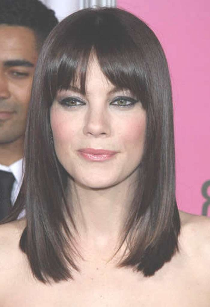 Black Medium Length Hairstyles With Bangs 2017 With Latest Black Medium Hairstyles For Long Faces (View 6 of 15)