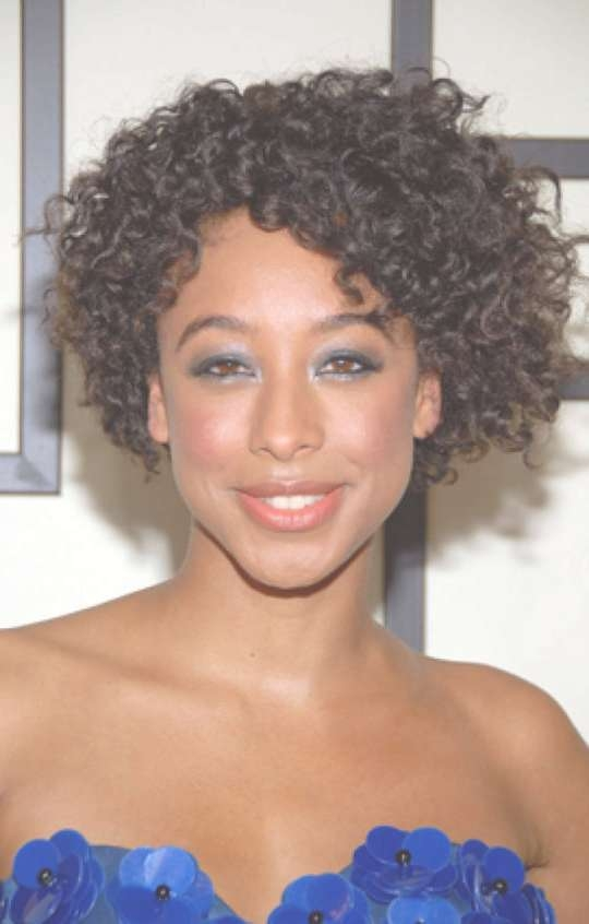 Photos of Medium Haircuts For Naturally Curly Black Hair (Showing 2 ...