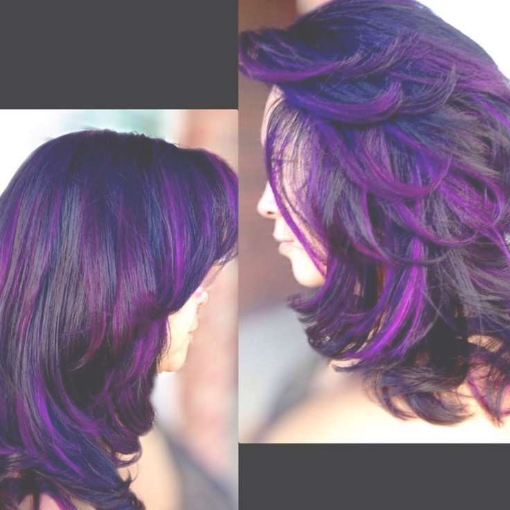 Black & Purple Hairstyles! A Gorgeous Combination! Throughout Most Up To Date Purple And Black Medium Hairstyles (View 11 of 15)