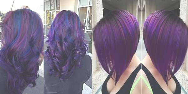 Black & Purple Hairstyles! A Gorgeous Combination! With Regard To Newest Purple Medium Hairstyles (View 11 of 25)
