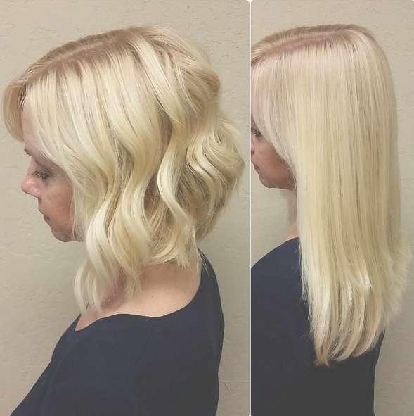 Blonde Angled Bob Haircuts – Popular Haircuts Within Angled Bob Haircuts (View 23 of 25)