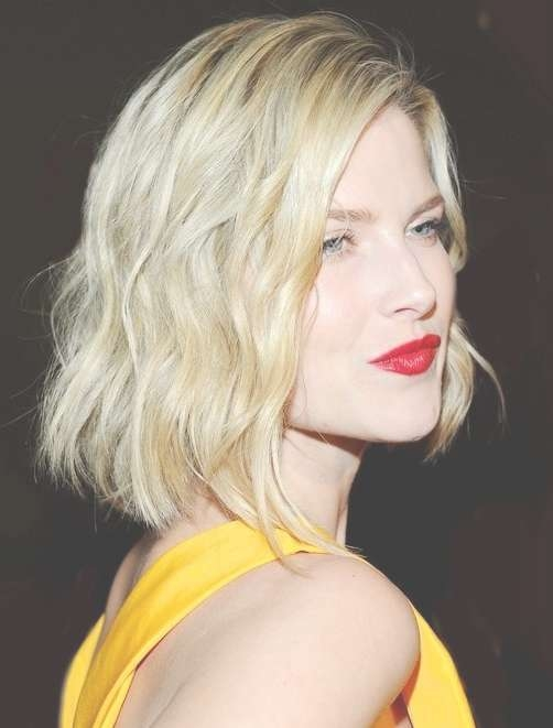Blunt Bob Haircuts: Medium Hairstyle With Blonde Hair – Popular Throughout Blunt Bob Haircuts (View 14 of 25)
