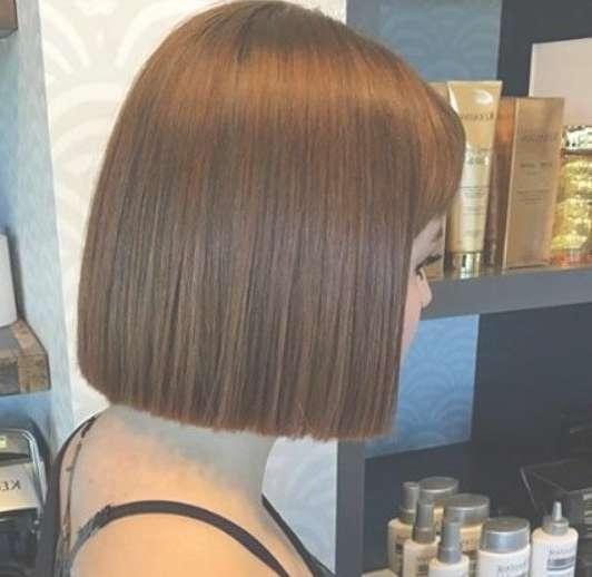 Blunt Chin Length Bob Haircut … | Pinteres… With One Length Bob Haircuts (View 5 of 25)