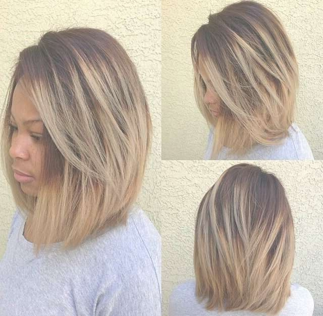 Bob Cut Medium Black Hairstyles Throughout Most Recent Medium Hairstyles With Color For Black Women (View 11 of 15)
