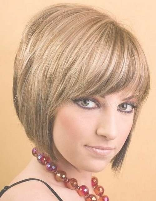 Bob Haircut – Layered Bob Haircut With Fringe   Trendy Hairstyles Pertaining To Short Bob Hairstyles With Fringe (View 14 of 25)