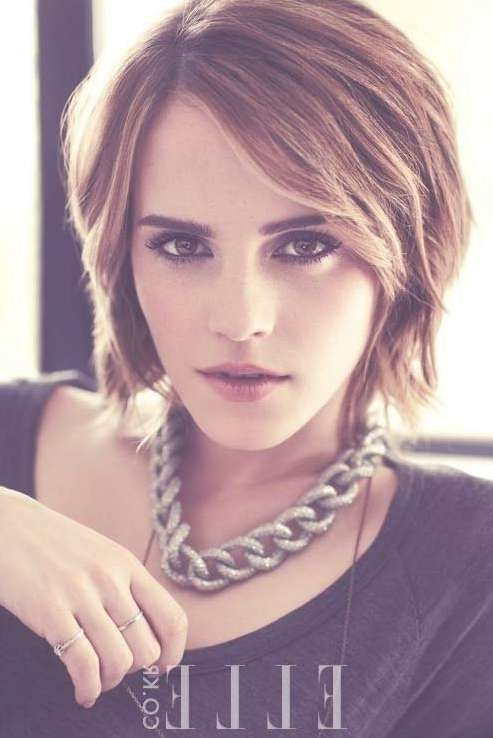 Bob Haircuts For 2014: Stylish Layered Short Bob Hairstyle With Regarding Short Bob Hairstyles With Bangs (View 22 of 25)