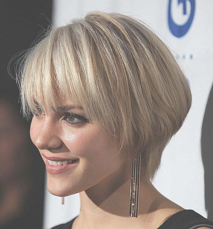 Bob Hairstyle : Lovely Blonde Bob Hairstyles With Fringe Blonde Inside Short Bob Hairstyles With Fringe (View 13 of 25)
