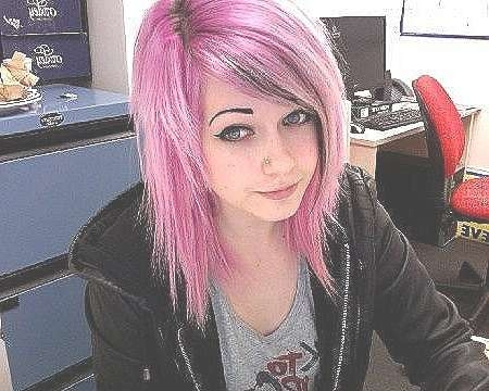 Bob Hairstyle : Scene Bob Hairstyle Awesome Medium Length Scene With Best And Newest Pinks Medium Haircuts (View 9 of 25)