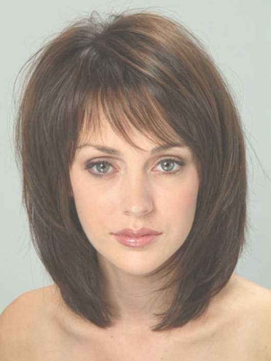 Bob With Layered Medium Haircut For Round Faces   Natural Hair Care With Regard To Newest Medium Haircuts For Women With Round Faces (View 17 of 25)