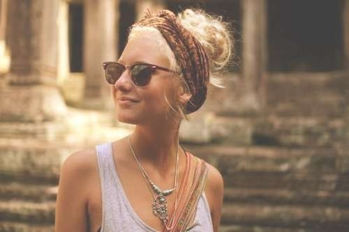 Bohemian Chic Twisted Braid Updo Hairstyle – Hairstyles Weekly Regarding Most Current Bohemian Medium Hairstyles (View 13 of 15)