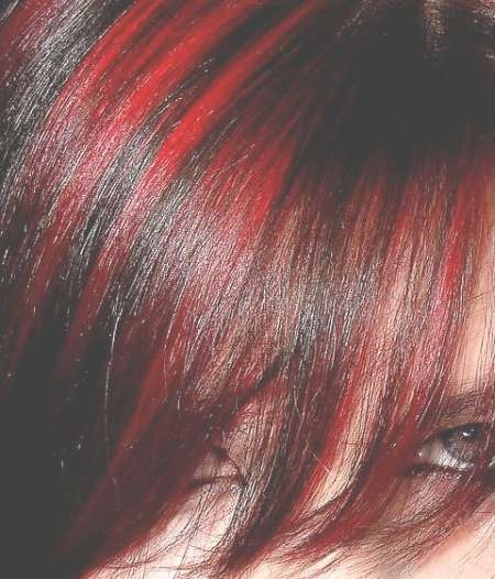 Bold Red Highlights For Dark Hair | New Haircuts To Try For 2018 Regarding Most Recently Medium Hairstyles With Red Highlights (View 7 of 15)