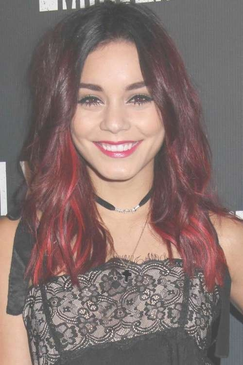 Bold Red Highlights For Dark Hair | New Haircuts To Try For 2018 With Regard To Newest Medium Hairstyles With Red Highlights (View 8 of 15)