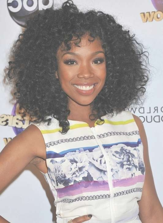 Brandy Medium Black Curly Hairstyle For Black Women Black Hair Regarding Most Current Curly Medium Hairstyles Black Women (View 5 of 15)