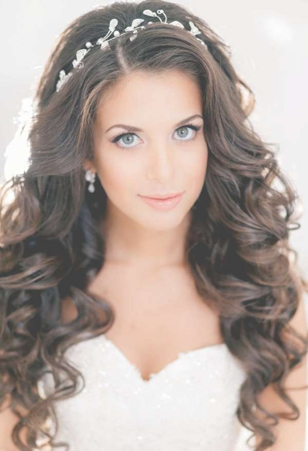 Bridal Hairstyles For Long Hair Down 2017 Wedding Hairstyles For Pertaining To Latest Long Hairstyle For Wedding (View 12 of 25)