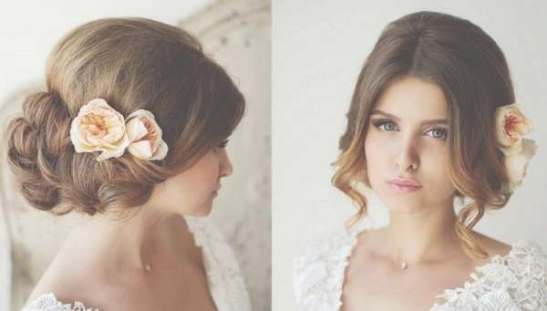 Bridal Hairstyles For Medium Length Hair In Most Recently Bridal Medium Hairstyles (View 14 of 25)