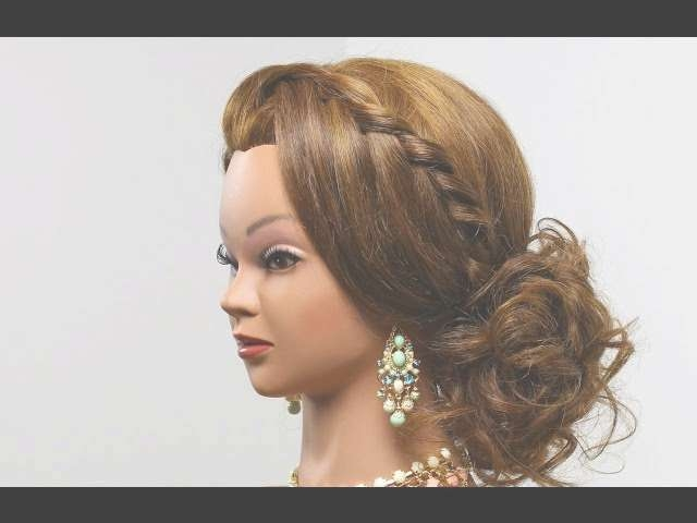 Bridal Prom Updo. Hairstyle For Medium Hair (View 13 of 15)