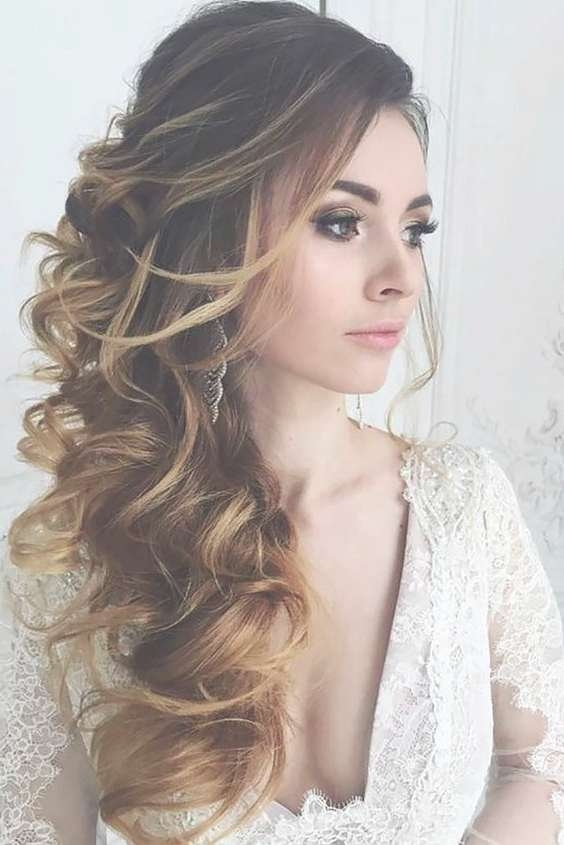 Showing Photos of Wedding Long Down Hairstyles (View 8 of 25 Photos)