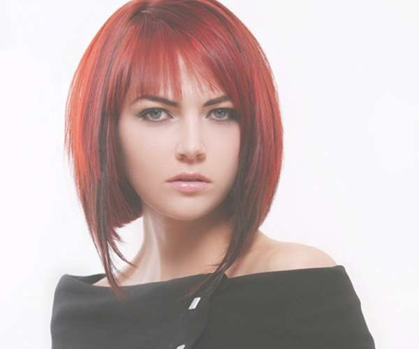 Bright Red Bob Hairstyles – Hairstyle Fo? Women & Man With Recent Red Medium Hairstyles (View 9 of 25)