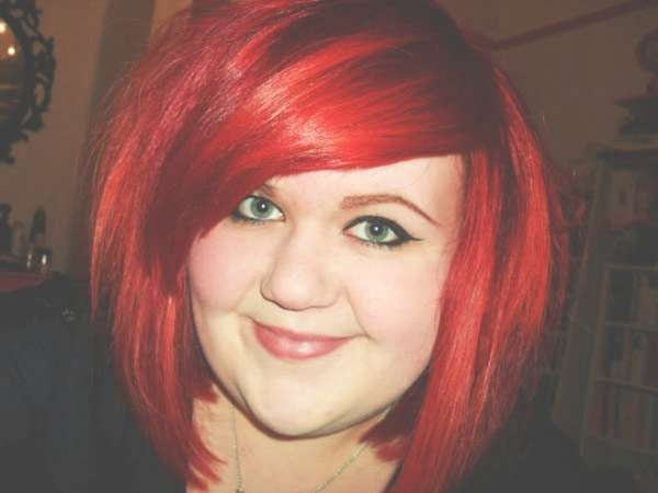 Bright Red Hair Coloring Adds Touch Cuteness Hairstyle | Medium Throughout Newest Bright Red Medium Hairstyles (View 10 of 15)
