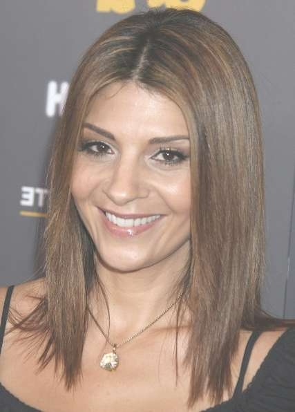 Brown, Shoulder Length Hairstyles For Straight Hair: Callie Thorne Regarding Latest Medium Haircuts Straight Hair (View 7 of 25)