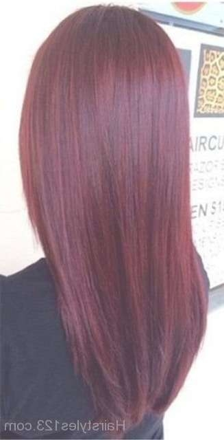 Burgundy Hairstyle Intended For Best And Newest Burgundy Medium Hairstyles (View 5 of 15)