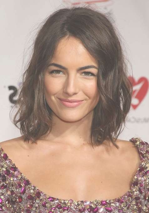 Camilla Belle Haircut – Edgy Tousled Medium Bob Hairstyle For Throughout Recent Tousled Medium Hairstyles (View 3 of 15)