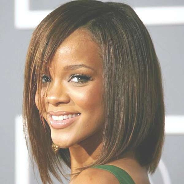 Can Afford Medium Length Black Bob Hairstyles 2017 Within Newest Medium Haircuts For Black Women With Long Faces (View 18 of 25)