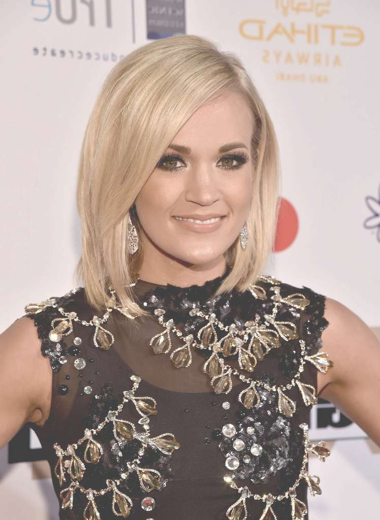 Carrie Underwood Hair – Stylebistro For Most Current Carrie Underwood Medium Haircuts (View 19 of 25)