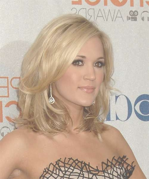 Carrie Underwood Hairstyles In 2018 With Most Recently Carrie Underwood Medium Haircuts (View 10 of 25)