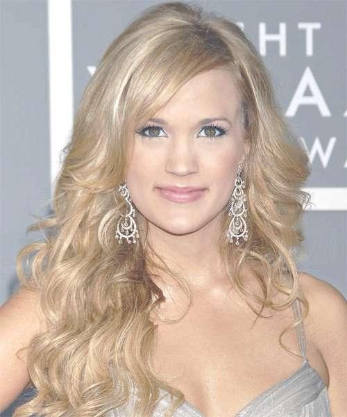 Carrie Underwood Long Wavy Formal Hairstyle – Medium Blonde In Best And Newest Carrie Underwood Medium Hairstyles (View 23 of 25)