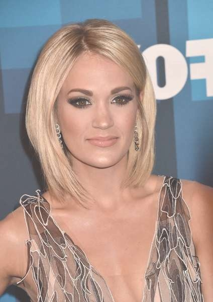 Carrie Underwood Medium Layered Cut – Carrie Underwood Hair Looks Pertaining To Recent Carrie Underwood Medium Hairstyles (View 9 of 25)