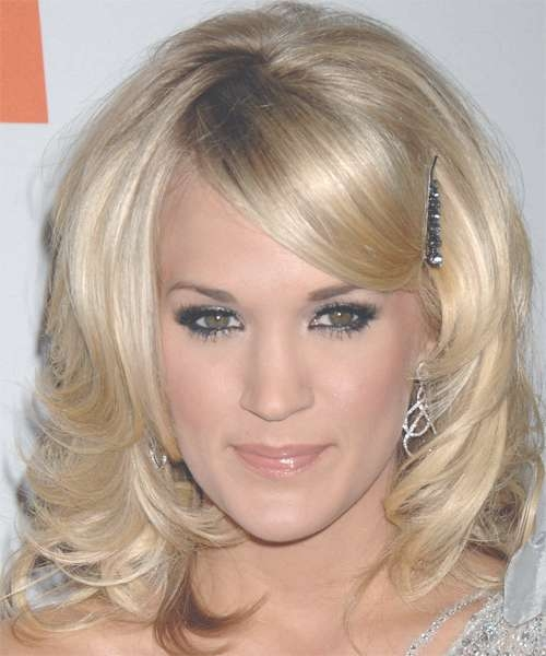 Carrie Underwood Medium Wavy Formal Hairstyle – Medium Blonde Regarding Current Carrie Underwood Medium Haircuts (View 15 of 25)