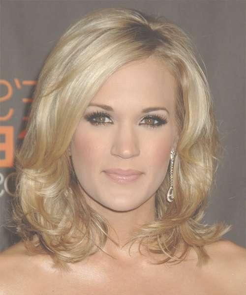 Carrie Underwood Medium Wavy Formal Hairstyle – Medium Blonde With Latest Carrie Underwood Medium Hairstyles (View 3 of 25)