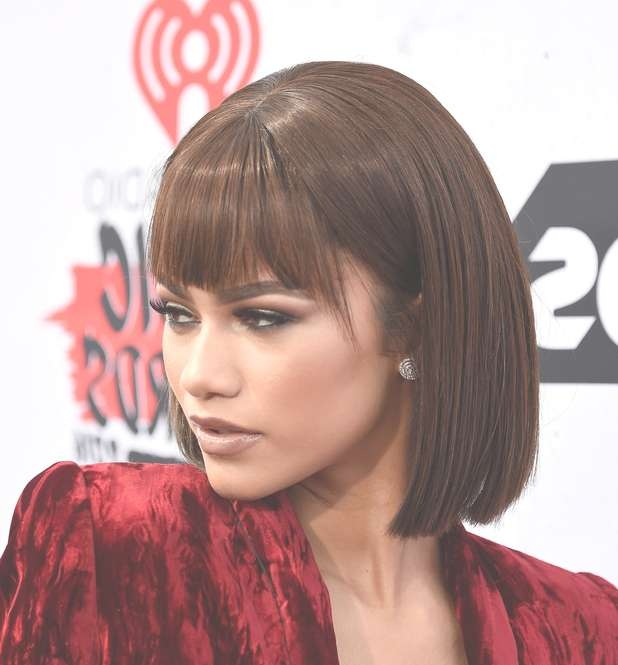 Celebrity Bang Hairstyle Ideas – Page 2 – Haircuts And Hairstyles Inside Zendaya Bob Haircuts (View 8 of 25)