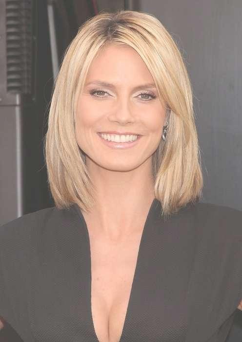 Celebrity Bob Hairstyles: Heidi Klum Longer Bob Hairstyle – Pretty Inside Celebrity Bob Haircuts (View 22 of 25)