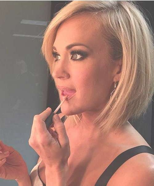 Celebrity Bob Hairstyles Pics Women's Beloved   The Best Short Within Carrie Underwood Bob Haircuts (View 10 of 25)