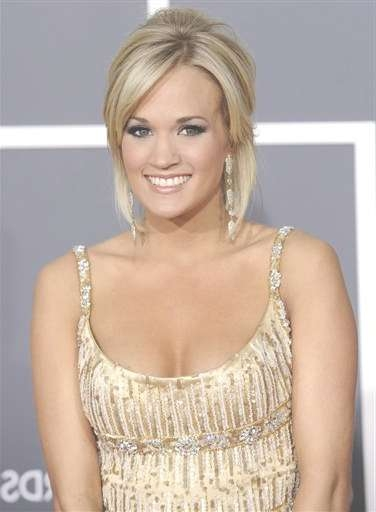 Celebrity Hairstyle: Carrie Underwood Hairstyles For  (View 17 of 25)