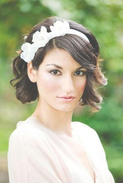 Celebrity Hairstyles: Wedding Hairstyles With White Flower In Most Recent Medium Hairstyles With Headbands (View 7 of 25)