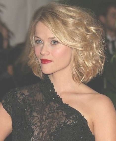 Celebrity Short Bob Hairstyle: Wavy Hairstyle For Heart Face Shape Intended For Celebrity Short Bob Hairstyles (View 15 of 25)