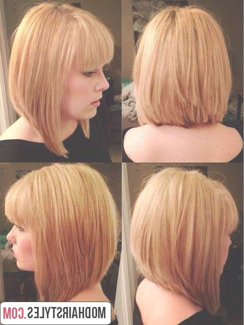 Charming Bob Hairstyles And Haircuts With Bangs In Unique Bob Haircuts (View 5 of 25)