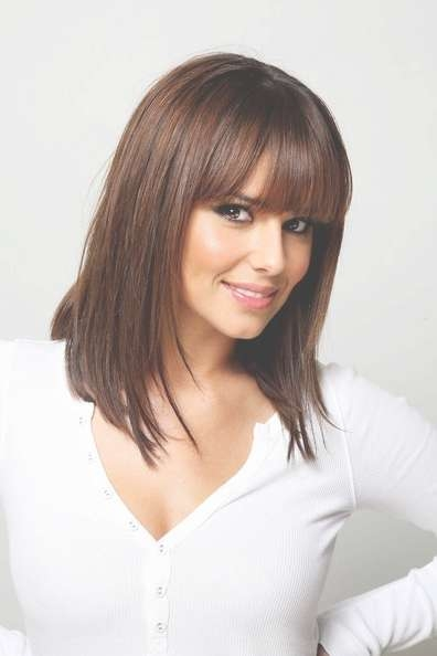 Cheryl Cole Medium Straight Cut With Bangs – Cheryl Cole Shoulder Inside Most Up To Date Bang Medium Hairstyles (View 11 of 25)