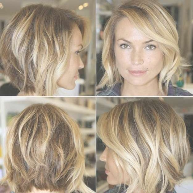 Chic Layered Bob Haircut With Side Swept Bangs – Hairstyles Weekly Regarding Layered Bob Haircuts (View 14 of 25)